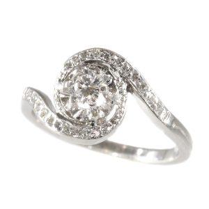 Vintage Fifties Platinum Diamond Engagement Ring
