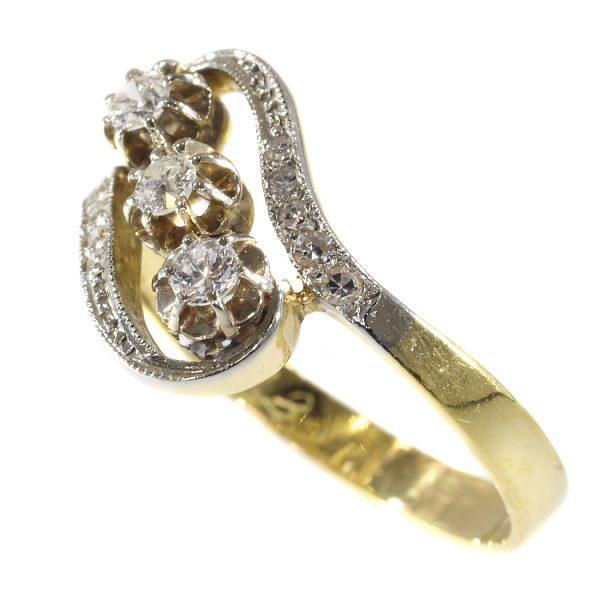 Elegant Antique Belle Epoque Diamond Ring
