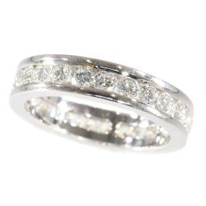 Vintage Brilliant Cut Diamond White Gold Eternity Ring