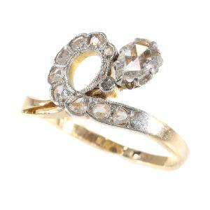Antique Victorian Asymmetric Diamond Engagement Ring