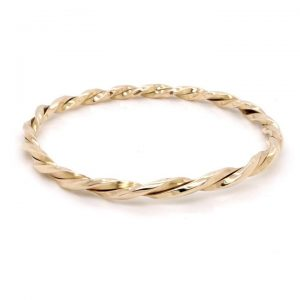 Heavy Double Twist Bangle in 9ct Yellow Gold