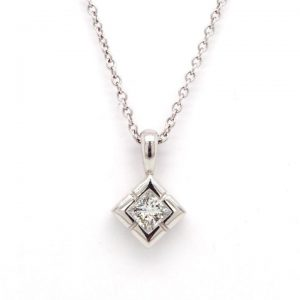 Diamond Single Stone Pendant in Platinum, 0.25 carats