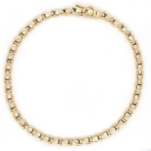 Contemporary 1.20ct Diamond Line Bracelet in 18ct Yellow Gold