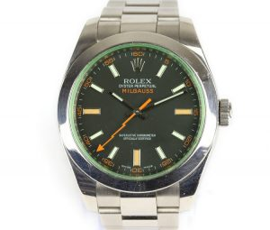 Rolex Milgauss Green Crystal 40mm Steel Automatic 116400GV