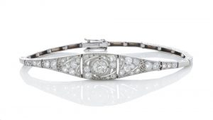Belle Epoque Diamond and Platinum Bracelet, 1.20 carats