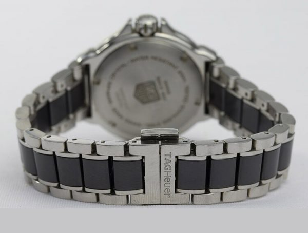 Tag Heuer Formula 1 Ladies Watch with Original Factory Set Diamond Bezel, on a ceramic and stainless steel bracelet with push button clasp