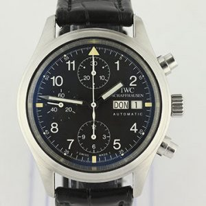IWC Flieger Chronograph Automatic Steel Day Date Pilot Watch