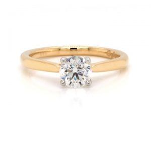 0.70ct Diamond Single Stone Engagement Ring in 18ct Yellow Gold