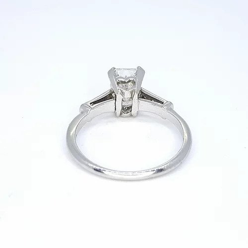 Radiant Cut Diamond Solitaire Engagement Ring in Platinum, 1.18 carats