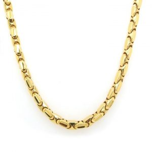Chimento of Italy 18ct Yellow Gold Link Necklace with Diamond Set Clasp