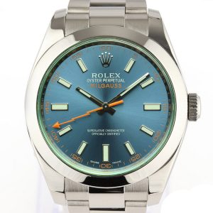 Rolex Milgauss Blue Dial 40mm Stainless Steel Automatic, Box and Papers