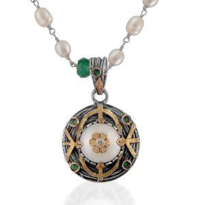 Oriana Pearl Tsavorite Diamond Pendant