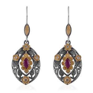 Isla Garnet Diamond Earring