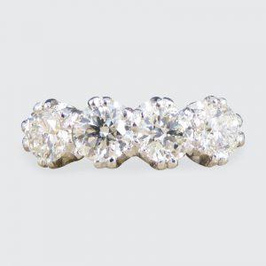 Four Stone 1.10ct Old Cut Diamond Ring