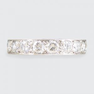 Full 2.11ct Brilliant Cut Diamond Platinum Eternity Ring