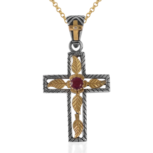 Lucia Ruby Gold Cross