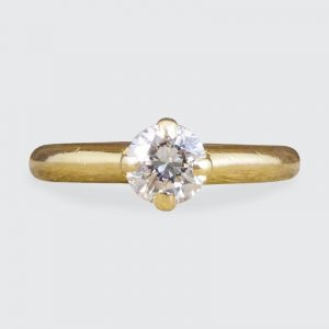 Vintage 0.45ct Diamond Claw Set Solitaire Ring