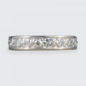Vintage 1.00ct Brilliant Cut Diamond Full Eternity Ring