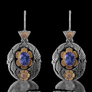 Viola Tanzanite Diamond Earrings