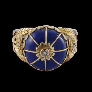 The Leh Lapis Lazuli Diamond Ring