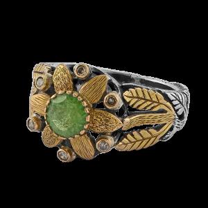 Tsarina Tsavorite Diamond Ring