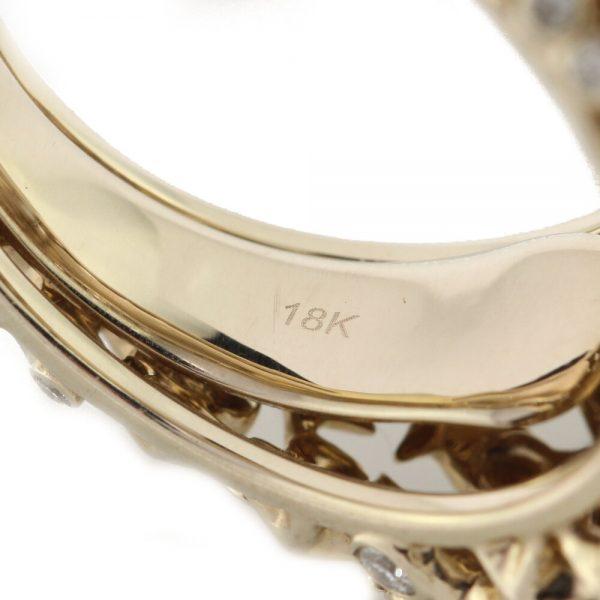 Bibi Van Der Velden Pearl Moonstone Diamond in 18ct Yellow Gold