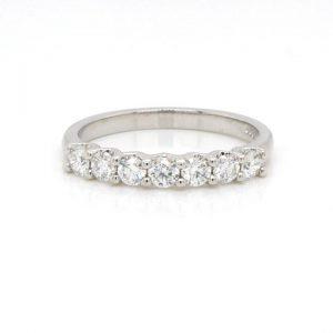 Diamond Seven Stone Half Eternity Ring in Platinum, 0.50 carats