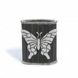 Contemporary Diamond Butterfly and Ladybird Cuff Bracelet, 9.00 carats
