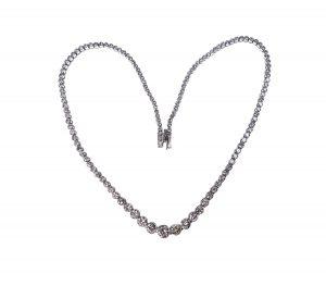 Graduating Diamond Necklace in Platinum, 10.00 carats