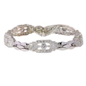 Vintage Fifties 4.65ct Diamond Platinum and 18ct White Gold Bracelet