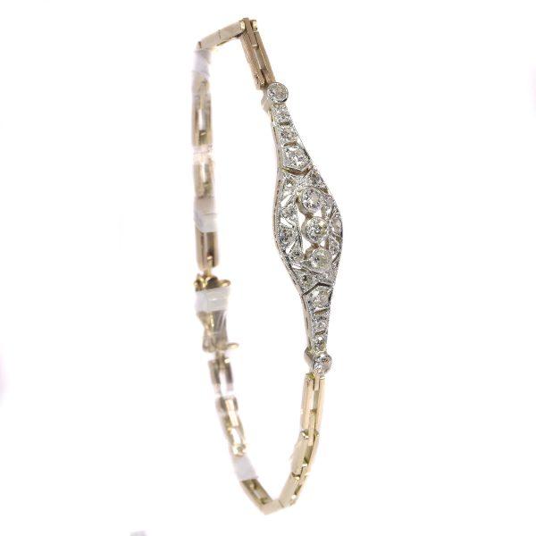 Antique Art Deco Brilliant Cut Diamond Bracelet