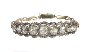 Vintage Victorian Style Rose Cut Diamond Bracelet