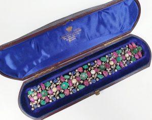 Vintage Tutti Frutti Gem Stone Bracelet, Circa 1950s