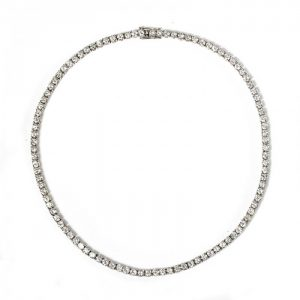 Contemporary Diamond Riviere Necklace, 18.30 carats