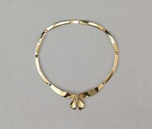 Vintage French 18ct Gold Bow Collar Necklace
