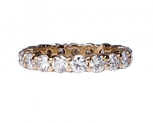 French Diamond Full Eternity Band Ring in 18ct Yellow Gold, 2.00 carats