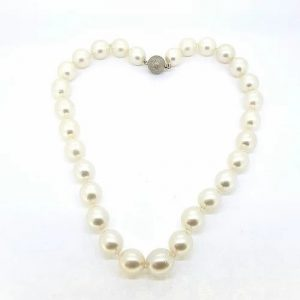 Southsea Pearl Necklace with Diamond Clasp