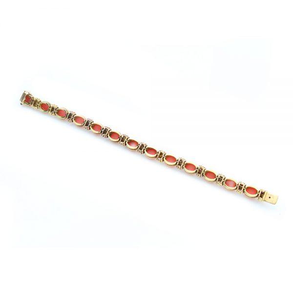 Vintage Van Cleef and Arpels 18ct Gold and Coral Bracelet