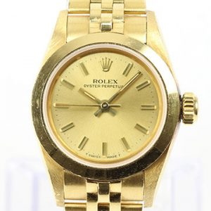 Vintage Rolex Lady Oyster Perpetual 18ct Yellow Gold 67188 Automatic