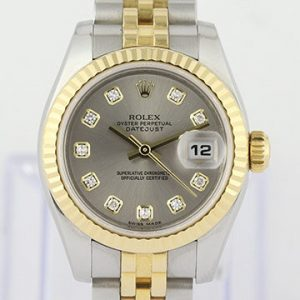 Rolex Lady Datejust Steel and Gold 179173 Automatic with Diamond Dial