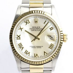 Rolex Datejust 16233 Steel and Gold 36mm Original Mother of Pearl Dial