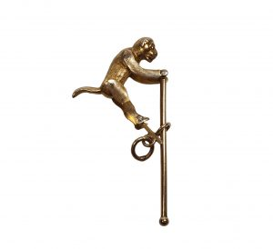 Antique Victorian 15ct Yellow Gold Articulated Monkey Pendant