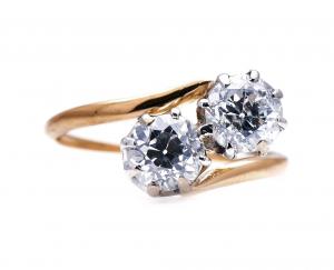 Antique Edwardian 'Toi et Moi' Diamond Ring