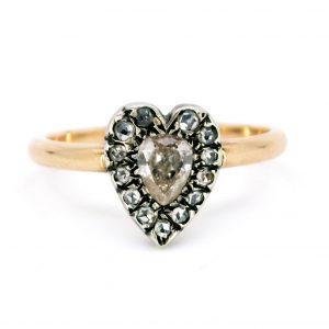 Antique Victorian Diamond Heart Ring