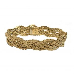Mellerio Vintage 18ct Gold Textured Rope Bracelet, 1970's