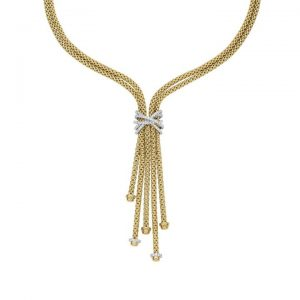 Fope Prima MiaLuce 18ct Yellow Gold 1.47ct Diamond Necklace 752C