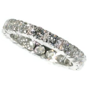 Vintage Seventies Platinum Diamond Eternity Band