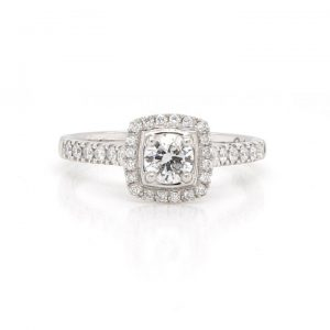 Diamond Cluster Ring in Platinum, D Colour with Certificate
