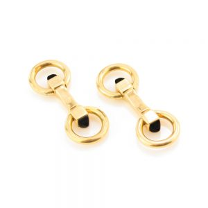 Cartier Vintage 18ct Yellow Gold Cufflinks with Onyx, Circa 1970s