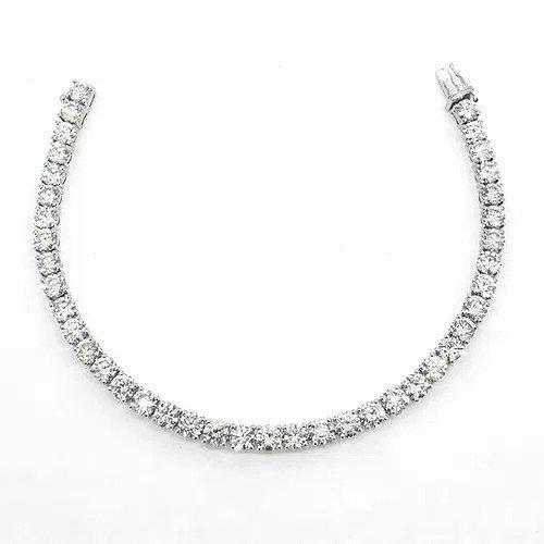 12.30ct Diamond Line Bracelet 18ct White Gold